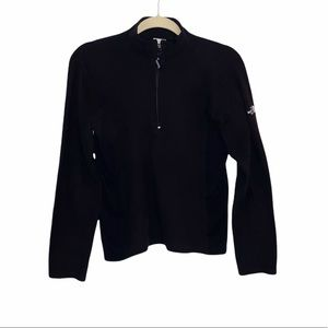 The North Face Women's Black Cropped 1/4 Sweater